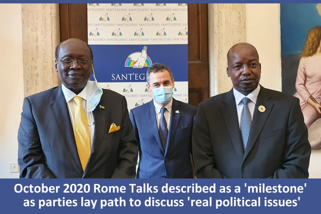 Rome Talks described as a 'milestone' as parties lay path to discuss 'real political issues'