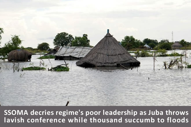 SSOMA decries regimes inaction and poor leadership in the face of catastrophic floods