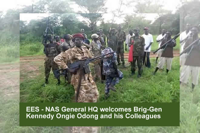 NAS General HQ welcomes former SPLA-IO sector commander and colleagues in EES