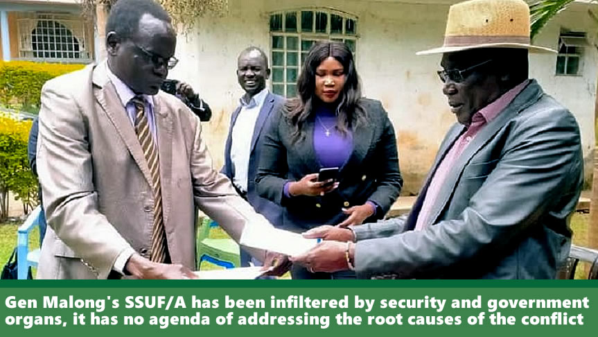 "SSOMA dismisses Malong's SSUF/A after investigation finds evidence of ""infiltration by Kiir's security and government agents"""