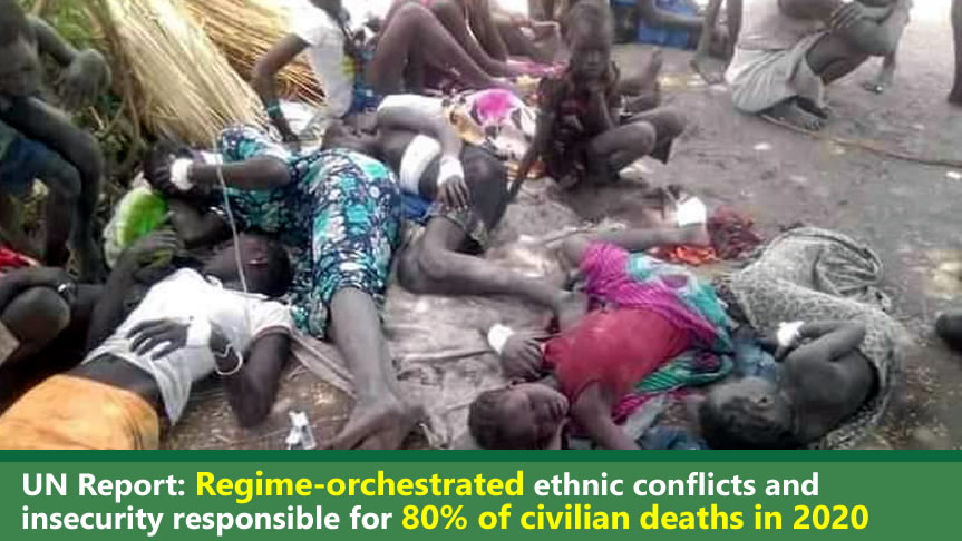 UN Report: Regime-orchestrated ethnic conflicts and insecurity responsible for 80% of civilian deaths in 2020