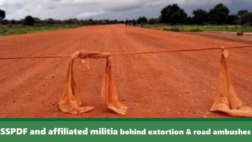 SSPDF and affiliated militia responsible for road ambushes